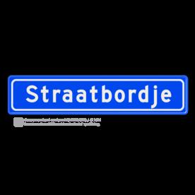 Straatnaambord 12 karakters 700x150 mm NEN 1772