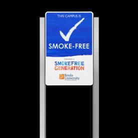 Portaalsysteem TS inclusief SMOKE-FREE BORD + 2 Geborsteld aluminium staanders