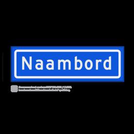 Straatnaambord KOKER 50x15cm - max. 8 karakters - NEN1772