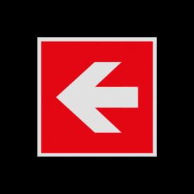 Haaks bord F000 - Pijl Links