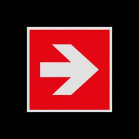 Pictogram FOOO - Pijl Rechts brandbestrijdingsmiddel