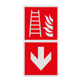 Haaks bord F003 - Richting Ladder
