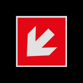 Haaks bord F000 - Pijl Links naar beneden