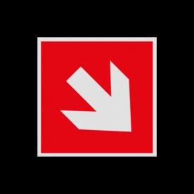 Haaks bord F000 - Pijl Rechts naar beneden