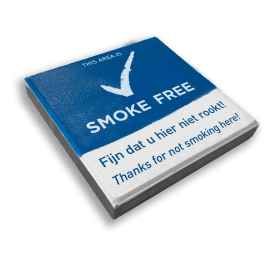 SMOKE-FREE - 300x300mm Stoeptegel