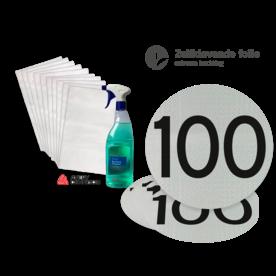 Set wijziging snelheid stickers (5 stuks) klasse 3 zelfklevend