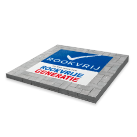 Wegmarkering - Logo Rookvrije Generatie - 1000x1000mm - Thermoplast