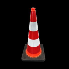 Verkeerskegel 75 cm reflecterend - Officiële verkeerskegel Nederland