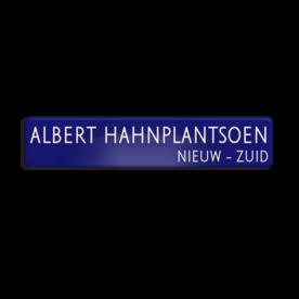 Straatnaambord aluminium DOR 1000x200mm - type Amsterdam