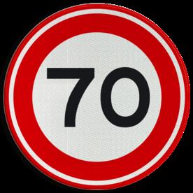 Verkeersbord RVV A01-070 - Maximum snelheid 70 km/h