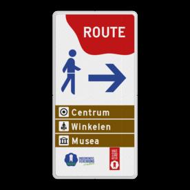 Routebord in Huisstijl - Bewegwijzering