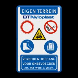 Veiligheidsbord 2:3 - 5 Symbolen - Met logo
