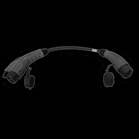 Adapter kabel voor vaste kabel type 2 naar type 1 auto