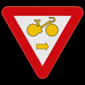 Verkeersbord SB250 B22 - Fietser rechtsaf
