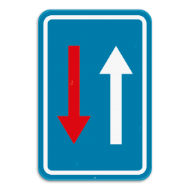 Verkeersbord SB250 B21 -Smalle doorgang