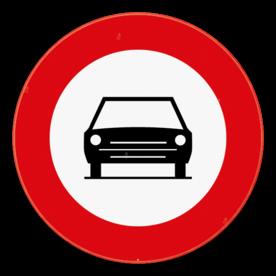 Verkeersbord SB250 C5 - Verboden toegang voor motorvoertuigen