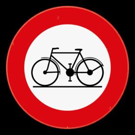 Verkeersbord SB250 C11 -  Verboden toegang voor bestuurders van rijwielen