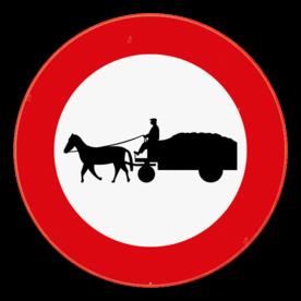 Verkeersbord SB250 C13 - Verboden toegang voor bestuurders van gespannen
