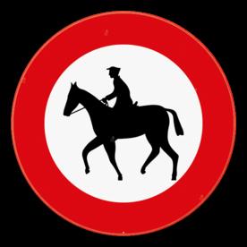 Verkeersbord SB250 C15 - Verboden toegang voor ruiters