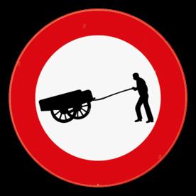 Verkeersbord SB250 C17 - Verboden toegang voor bestuurders van handkarren