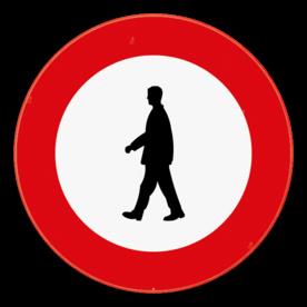 Verkeersbord SB250 C19 - Verboden toegang voor voetgangers