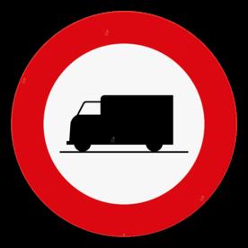 Verkeersbord SB250 C23 - Verboden toegang voor bestuurders van voertuigen bestemd of gebruikt voor het vervoer van zaken