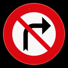 Verkeersbord SB250 C31b - Verbod om aan het volgend kruispunt rechts af te slaan