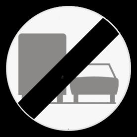 Verkeersbord SB250 C41 - Einde van het verbod opgelegd door het verkeersbord C39