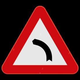 Verkeersbord SB250 A1a - Gevaarlijke bocht naar links