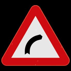 Verkeersbord SB250 A1b - Gevaarlijke bocht naar rechts