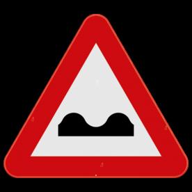 Verkeersbord SB250 A13 - Dwarse uitholling of ezelsrug