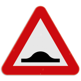 Verkeersbord SB250 A14 - Verkeersdrempel