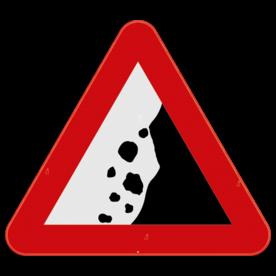 Verkeersbord SB250 A19 - Vallende stenen