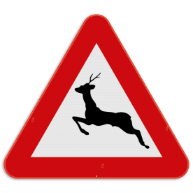 Verkeersbord SB250 A27 - Overstekend groot wild