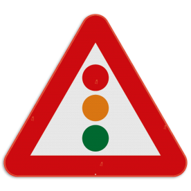 Verkeersbord SB250 A33 - Verkeerslichten