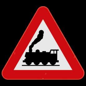 Verkeersbord SB250 A43 - Overweg zonder slagbomen