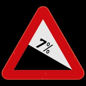 Verkeersbord SB250 A3 - Gevaarlijke daling