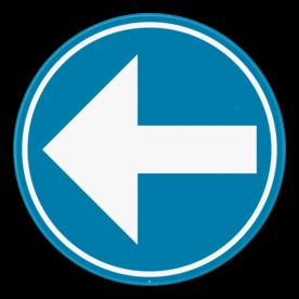 Verkeersbord SB250 D1b - Verplicht links