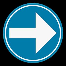 Verkeersbord SB250 D1b - Verplicht rechts