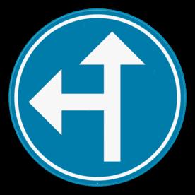 Verkeersbord SB250 D3a - Verplicht één van de pijlen te volgen