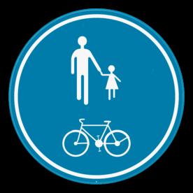 Verkeersbord SB250 D10 - Deel van de weg voorbehouden voor voetgangers en fietsers