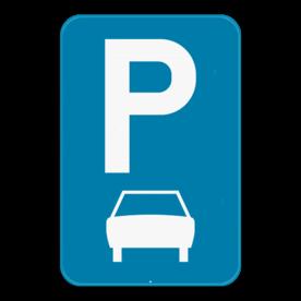 Verkeersbord SB250 E9b - Parkeren uitsluitend voor auto's