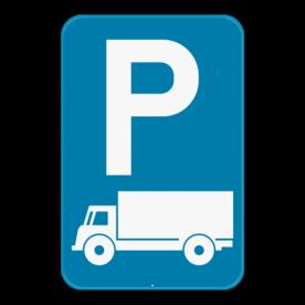 Verkeersbord SB250 E9c - Parkeren uitsluitend voor vrachtauto's