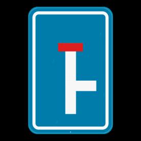 Verkeersbord SB250 F45R - Doodlopende weg, rechtse doorgang