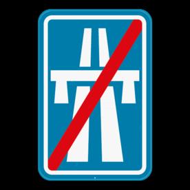Verkeersbord SB250 F7 - Einde autosnelweg