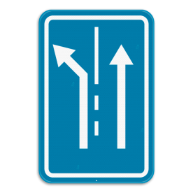 Verkeersbord SB250 F13 - Rijstrook keuze