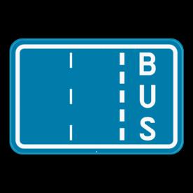 Verkeersbord SB250 F17 - Aanduiding busbaan