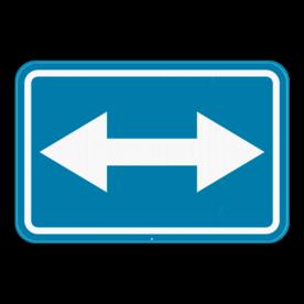 Verkeersbord SB250 F21 - Rechts of links voorbijrijden toegelaten