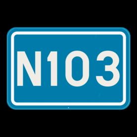 Verkeersbord SB250 F23a - Nummer van een gewone weg