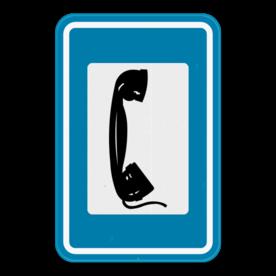 Verkeersbord SB250 F61 - Telefoon